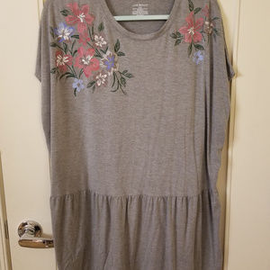 Lane Bryant Grey Pleplum Top 18-20